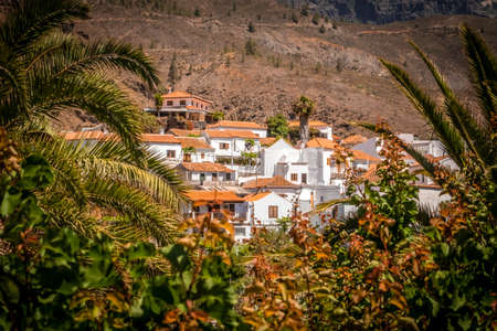 Picture of a beautiful small town of Fataga in Gran Canaria Canary Islands Spain photo