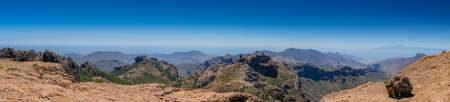 tableau: Stunning panorama of mountains in Gran Canaria Spain