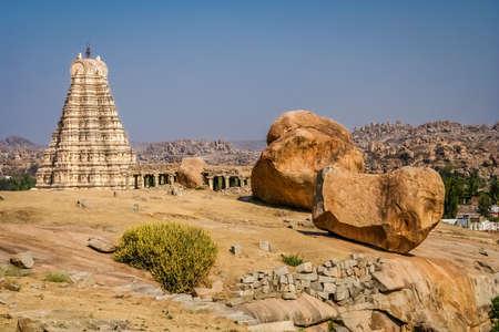 impressive: Impressive Virupaksha temple in Hampi Karmataka India.