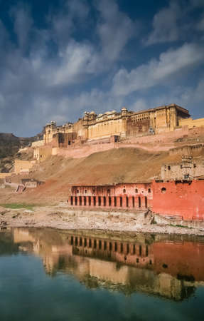 impressive: Impressive Amber Fort near Jaipur city in Rajasthan, India
