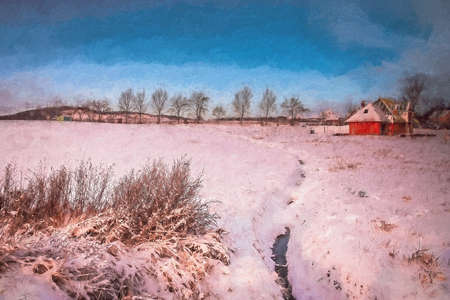 impression: Impression of rural winter landscape in southern Poland