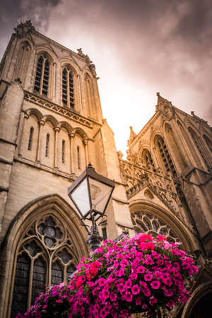 somerset: The tower of the Cathedral in Bristol, Somerset, England