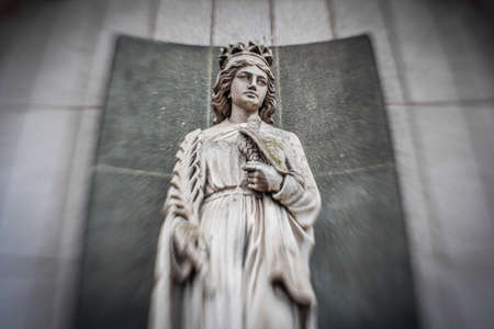 immaculate: Small statue of Mary outside church in Plymouth, England