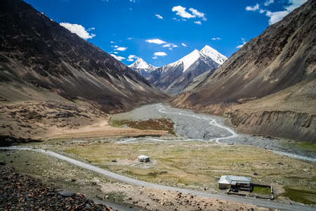 stunningly: Stunningly beautiful mountain road towards Khunjerab Pass, which marks border between China and Pakistan.
