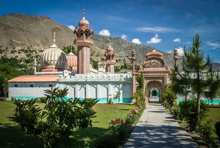 allah: Mosque in Chitral – small Pakistani town in the northern part of country