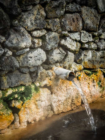 vulcanology: Geothermal hot mineral water in Furnas, Sao Miguel, Azores, Portugal