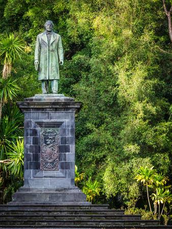 canto: Man sculpture in theJosé do Canto Botanical Garden in Ponta Delgada, the capital of Sao Miguel island, Azores, Portugal Editorial