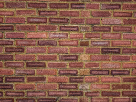 layers levels: Red bricks wall pattern in a newly constructed building Stock Photo