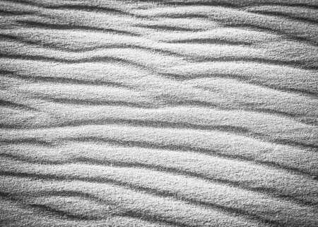 contrasted: Black and white highly contrasted pattern in the beach sand on the sand dunes in the desert
