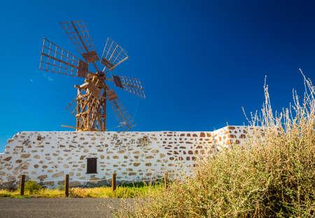 fuerteventura: Old windmill in Fuerteventura, Canary Islands, Spain