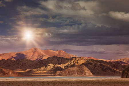 expanse: Beautiful landscape in the remote area of Western Tibet Stock Photo
