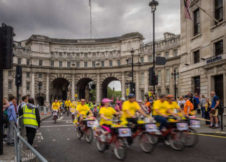 prudential: London, July 2016. Action during the Prudential Ride London Freecycle event in London UK that took place over the weekend on 30 and 31 July 2016