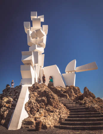 Lanzarote, Spain -  August 22, 2016: The Monument al Campesino created by the artist Caesar Manrique, Lanzarote, Canary Islands, Spain Editorial