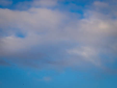 cloud drift: Horizontal picture of moving clouds in the sky Stock Photo