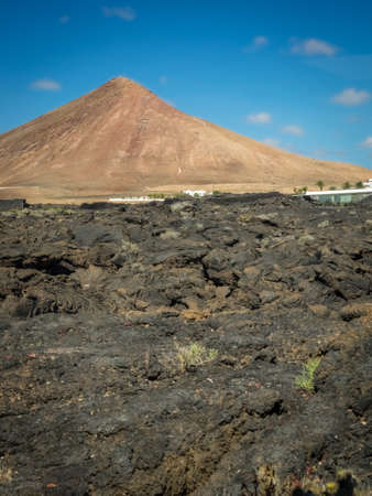 One of the volcanoes in central Lanzarote, Canary Islands, Spain