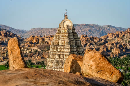 Impressive Virupaksha temple in Hampi, Karmataka, India.