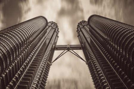 tallest bridge: Kuala Lumpur, Malaysia - March, 2008 : Twin Petronas Towers buildings - landmarks of malaysian capital Editorial