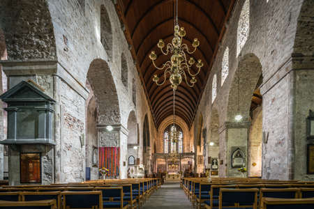 Limerick, Ireland -  April 2017 : Interior of the Old St Mary Cathedral in Limerick, Ireland