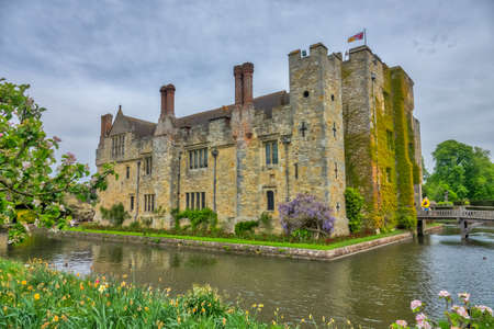 Hever Castle, England -  April 2017 : Hever Castle  located in the village of Hever, Kent, built in the 13th century, historical home of Ann Boleyn, the second queen consort of King Henry VIII of England Editorial