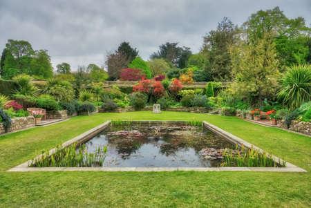 Hever Castle, England - April 2017 : Beautiful Hever Castle Gardens ...