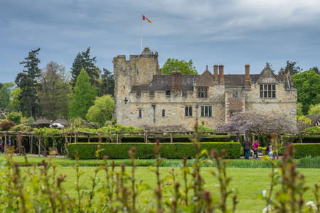 Hever Castle, England -  April 2017 : Hever Castle  located in the village of Hever, Kent, built in the 13th century, historical home of Ann Boleyn, the second queen consort of King Henry VIII of England Redakční