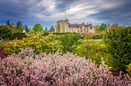 Hever Castle, England - April 2017 : Hever Castle and its beautiful gardens located in the village of Hever, Kent, built in the 13th century, historical home of Ann Boleyn, the second queen consort of King Henry VIII of England