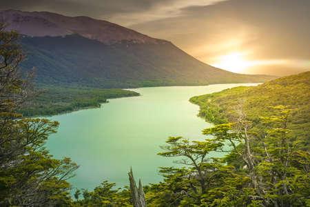 Beautiful lake on the road to Ushuaia, Argentina Stock Photo