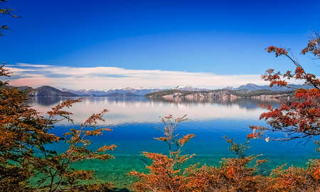 Beautiful lakes in argentinian Lake District near Bariloche, Argentina