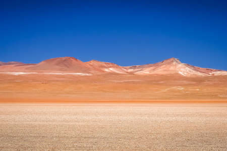 Dry and desolate landscape in southern part of bolivian Altiplano, Bolivia, South America Stock Photo
