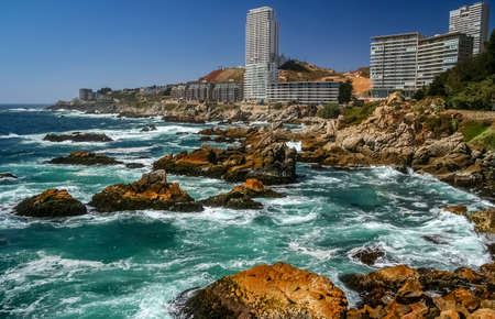 Modern living apartments at the seaside resort of Vina del Mar, V Region de Valparaiso, Chile