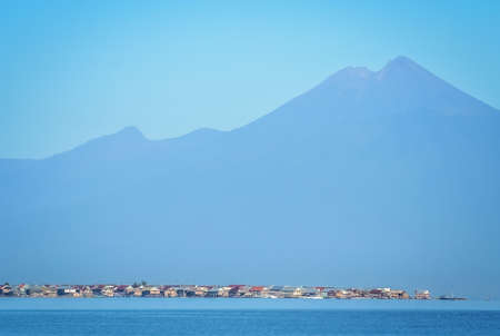 Small huts on the shore of the Sumbava island, Indonesia, Asia Stock Photo