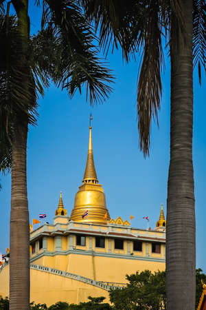 Huge Golden Stupa in the Grand Palace complex in Bangkok, Thailand, Asia Editorial