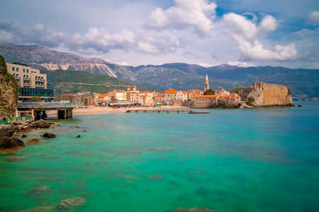 Beautiful Adriatic sea coast around Budva town in Montenegro in summer