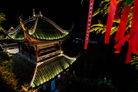 Yangtze River, China - August 2019 : Zhang Fei Temple built to commemorate Zhang Fei Han and his dynasty in Three Kingdoms period. It has history of more then 1700 years. Yunyang County