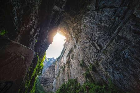 Stunning rock pillars of the tianzi mountain range, Avatar mountains nature park, Zhangjiajie, China