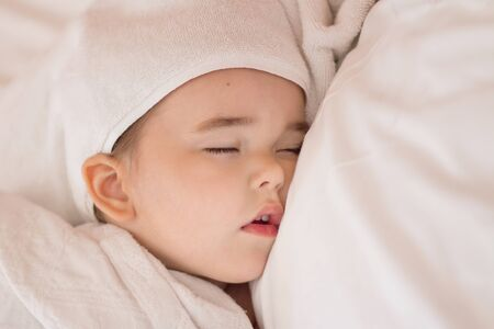 the concept of healthy lifestyle, IVF - a newborn baby sleeps
