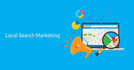 local search marketing illustration Фото со стока - 47531885