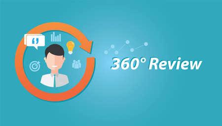 evaluacion: ilustración evaluación de los recursos humanos revisión de la evaluación de rendimiento retroalimentación de los empleados