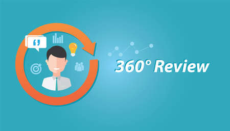 review feedback evaluation performance employee human resource assessment illustration 向量圖像