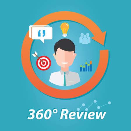 beoordeling feedback evaluatie van de prestaties van werknemers human resource assessment illustratie