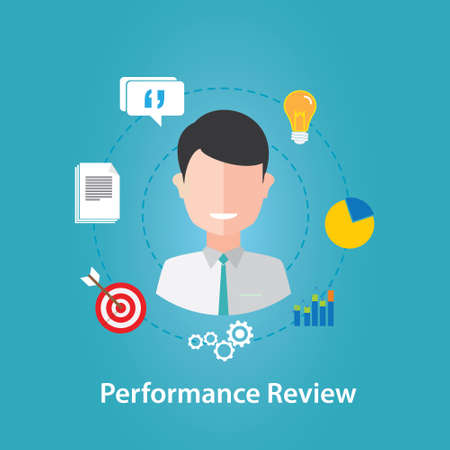 illustrazione Performance Review vettore dipendente Vettoriali