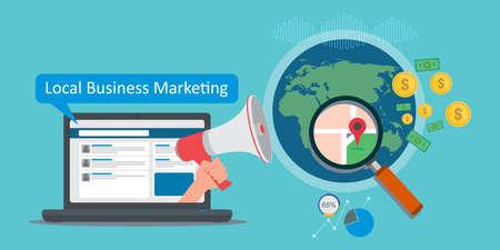 marketing des entreprises locales illustration vectorielle