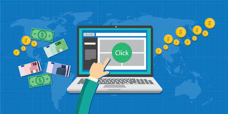 pay per click ppc concept illustration