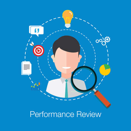 review: employee performance review vector illustration