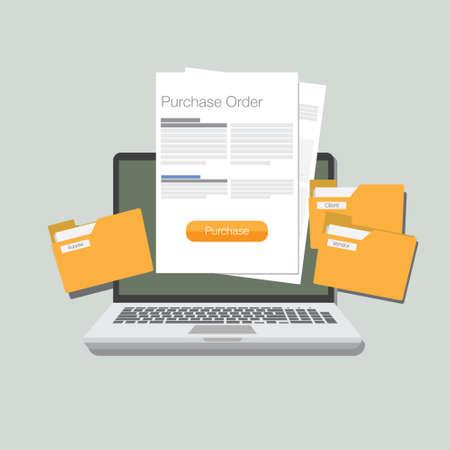 purchase order illustration vector illustration