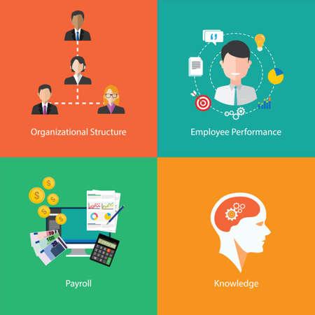human resource icons collection illustration Illustration