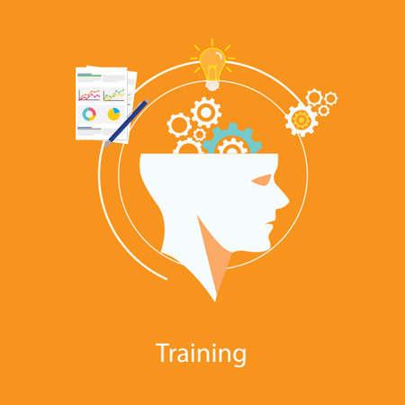 management training human resource illustration
