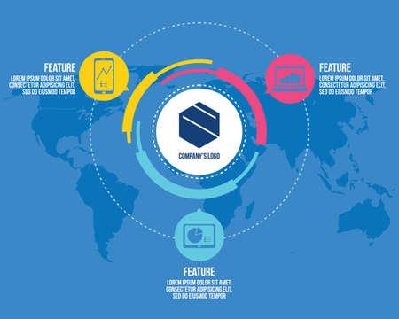company identity logo template vector Ilustração