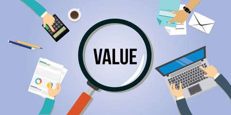 Value Proposition Kunden Konzept Vektor icon