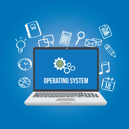 os operating system software computer laptop screen gear icon